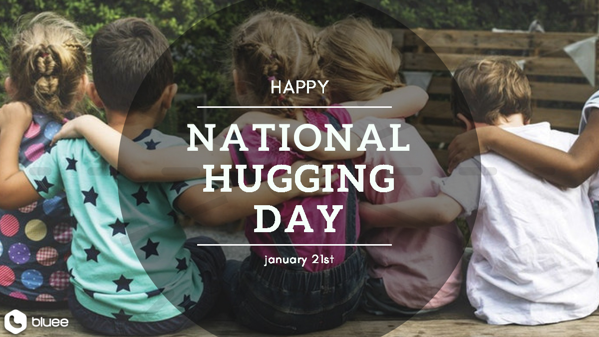 Guess what? It's National Hugging Day today!