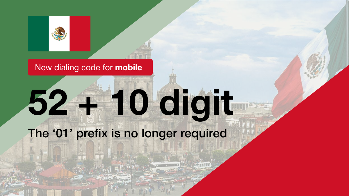 Dialing Code for Mexico Mobile Has Been Changed!